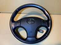 2007 LEXUS IS220 LEATHER STEERING WHEEL BLACK A/BAG CRUISE REMOTE 05-12 IS220D